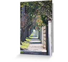 pathway to the burbs Greeting Card