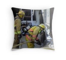 Boat fire Throw Pillow