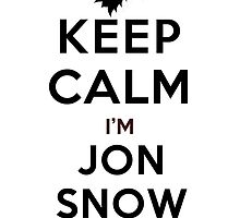 Keep Calm I'm Jon Snow (LS) by rachaelroyalty