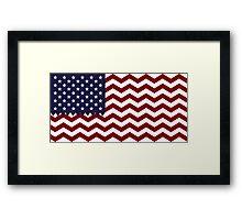 Zig Zag USA Framed Print