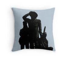 The Three Settlers Throw Pillow