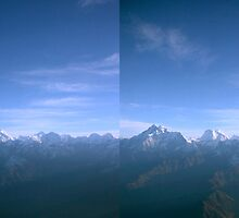 Gauri Sankar, Melungtse and Cho Oyu 3D Stereo by Richard Heath