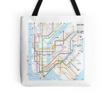 New York City subway map Tote Bag