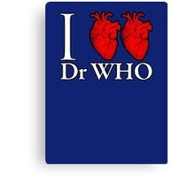 I Heart Heart Dr Who Canvas Print