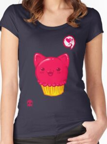 Cupcake Kitty Women's Fitted Scoop T-Shirt