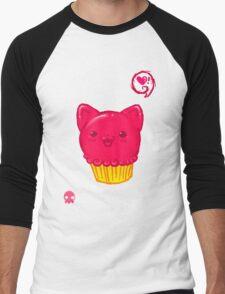 Cupcake Kitty Men's Baseball ¾ T-Shirt
