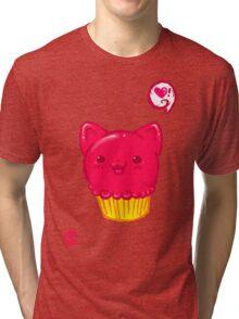 Cupcake Kitty Tri-blend T-Shirt