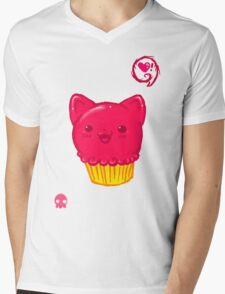 Cupcake Kitty Mens V-Neck T-Shirt