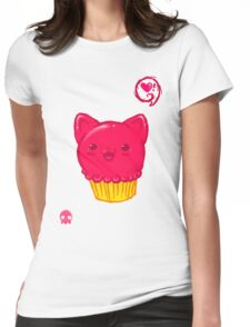 Cupcake Kitty Womens Fitted T-Shirt
