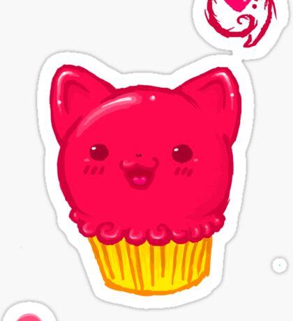 Cupcake Kitty Sticker