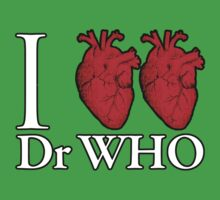 I Heart Heart Dr Who One Piece - Short Sleeve