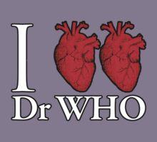 I Heart Heart Dr Who Kids Tee