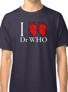 I Heart Heart Dr Who Classic T-Shirt