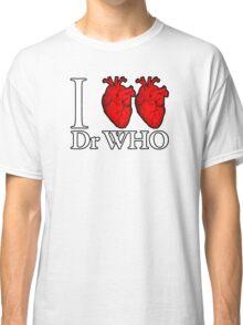 I Heart Heart Dr Who Classic T-Shirt
