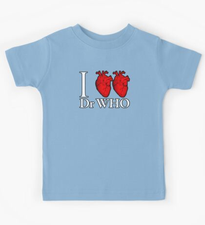I Heart Heart Dr Who Kids Tee