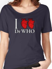 I Heart Heart Dr Who Women's Relaxed Fit T-Shirt