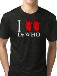 I Heart Heart Dr Who Tri-blend T-Shirt