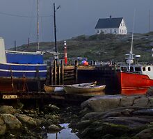Nova Scotia Harbor scene by milton ginos