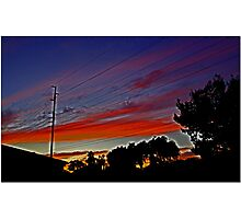 Sunset In Suburbia Photographic Print