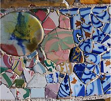 Gaudi Parc Guell mosaic by aligee