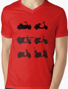 History of Vespa Mens V-Neck T-Shirt