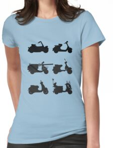 History of Vespa Womens Fitted T-Shirt