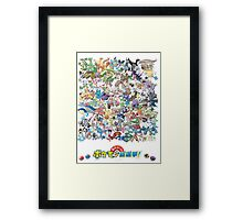 Pokedex Hoenn Framed Print