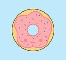 Yummy kawaii pink doughnut by peppermintpopuk