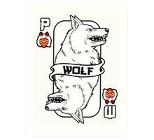 Moro the wolf card Art Print