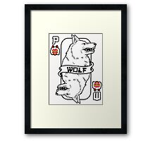 Moro the wolf card Framed Print