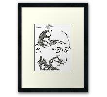 Gandhi - Sketch Framed Print