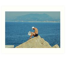 On the top of the world. Italy, Ligurian sea Art Print
