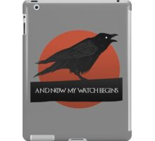 A Crows Speech. Game Of Thrones. iPad Case/Skin