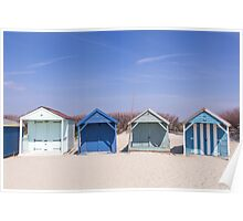 Beach hut blues  Poster