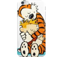 Calvin and hobbes hugs moment iPhone Case/Skin