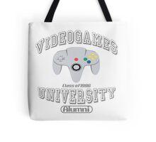 Videogames university Tote Bag