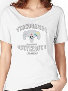 Videogames university Women's Relaxed Fit T-Shirt