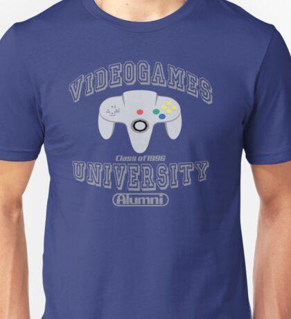 Videogames university Unisex T-Shirt