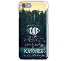 She Opens Her Mouth with Wisdom -Photo iPhone Case/Skin