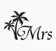 His and Hers Mr and Mrs Wedding Honeymoon Matching T-shirts by CreativeTwins