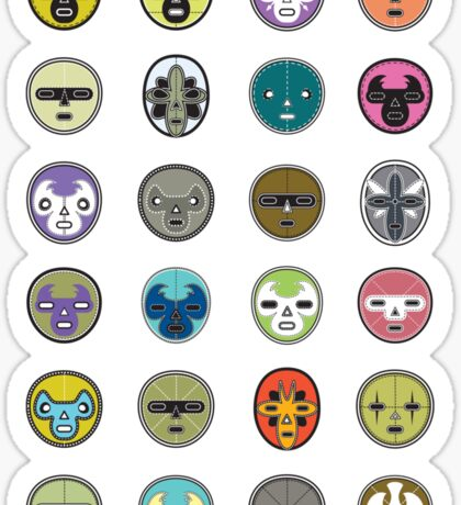 luchador mask me up Sticker