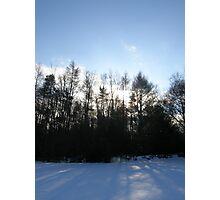 Blue Snow Photographic Print