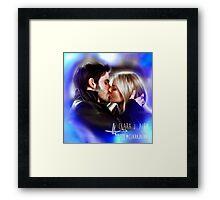CS Kiss Framed Print