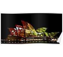Lighting up the sails - Sydney Opera House Poster