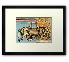 Funky Beach Crab Framed Print