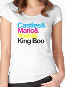 CMYK Mario Women's Fitted Scoop T-Shirt