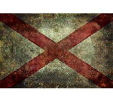 Alabama state flag Photographic Print