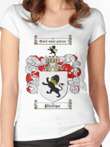 Phillips Family Crest / Phillips Coat of Arms T-Shirt Women's Fitted Scoop T-Shirt