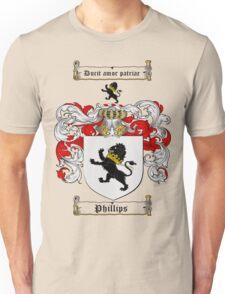 Phillips Family Crest / Phillips Coat of Arms T-Shirt Unisex T-Shirt