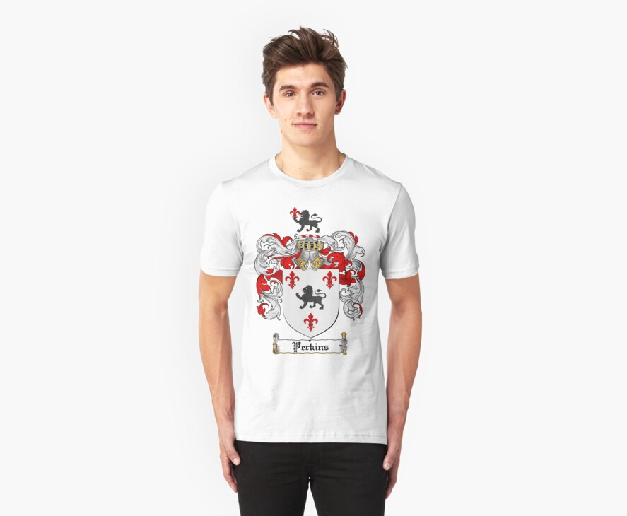 Perkins Family Crest / Perkins Coat of Arms T-Shirt by coatofarms